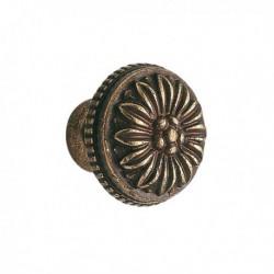 Bouton de meuble laiton Louis XVI bronzé