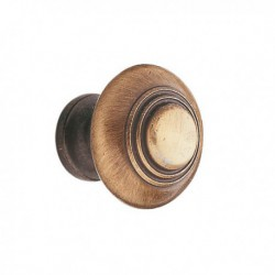 Bouton de meuble bronzé