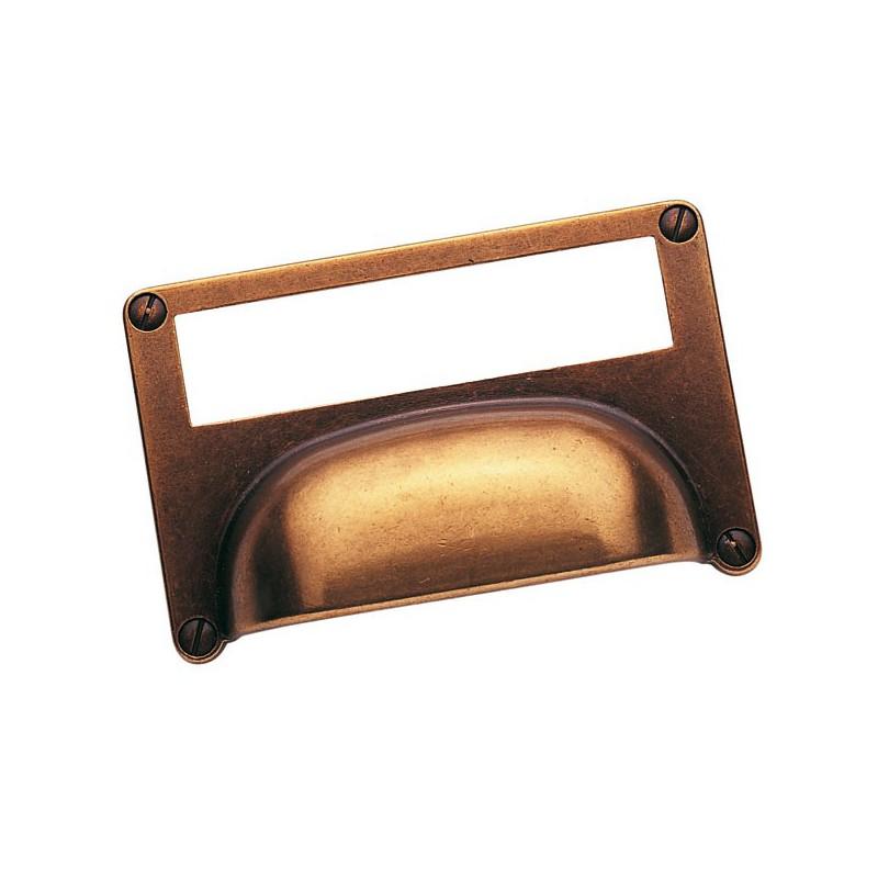 Poign e de meuble porte tiquette for Vis poignee de porte