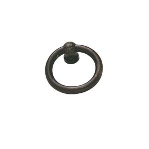 Poignée anneau ancien métal effet rouillé