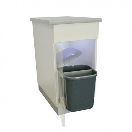 poubelle bac grise 15 litres. Black Bedroom Furniture Sets. Home Design Ideas