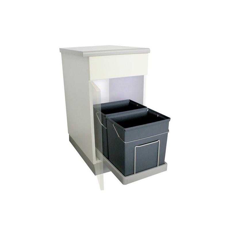 poubelle bacs 34l gris fonc. Black Bedroom Furniture Sets. Home Design Ideas