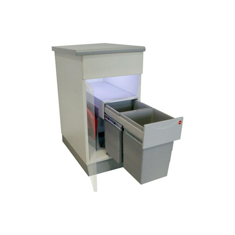 poubelle bacs 30l gris. Black Bedroom Furniture Sets. Home Design Ideas