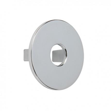Bouton de meuble chromé disque