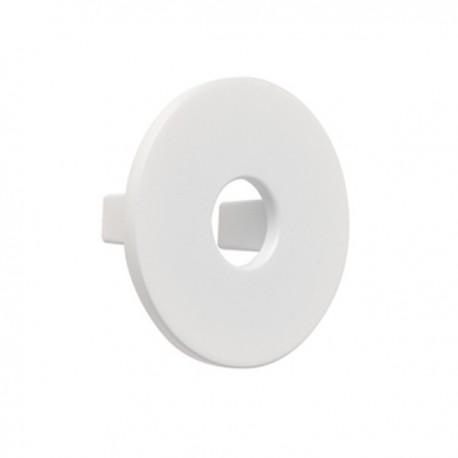 Bouton de meuble blanc disque
