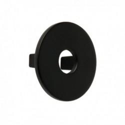 Bouton de meuble noir disque