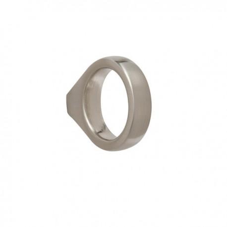 Bouton de meuble look inox anneau