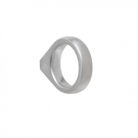 Bouton de meuble look aluminium anneau