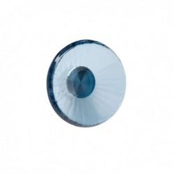 Bouton de meuble verre forme rond bleu