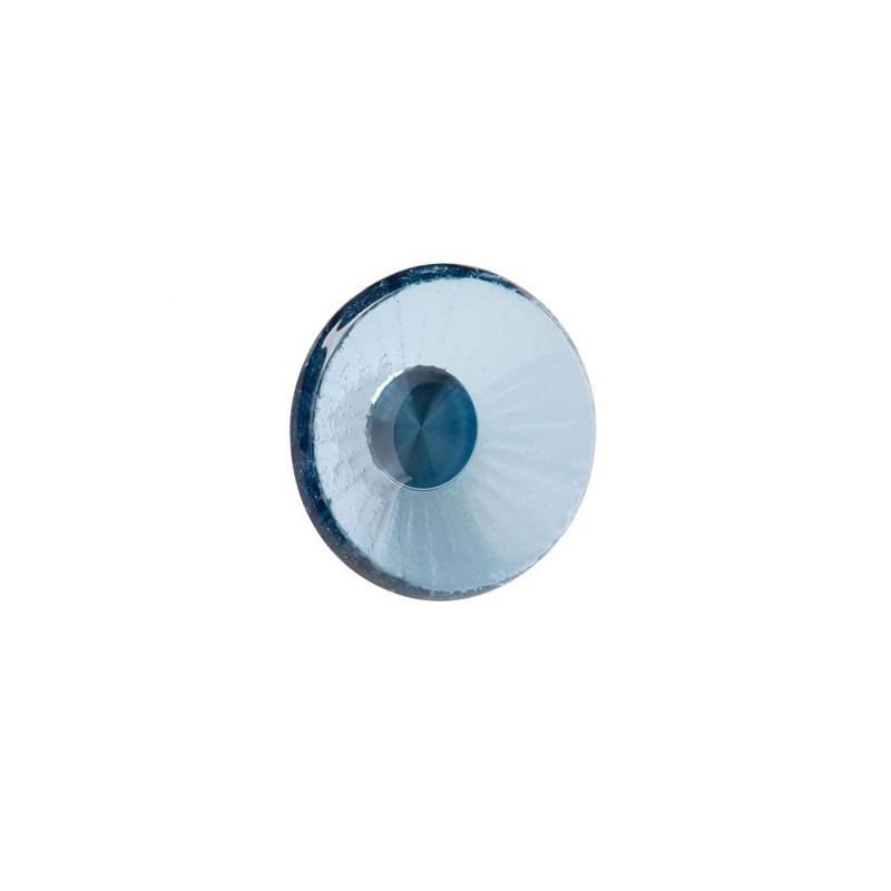 Bouton verre forme rond bleu - Bouton de meuble en verre ...