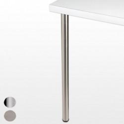 Pied de bar chromé, inox brossé ou blanc, hauteur 1100mm, diamètre 60mm