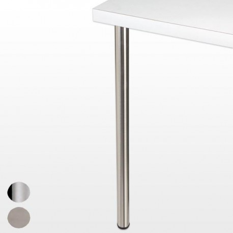 Pied de bar rond CHESTER, hauteur 1100 mm, diamètre 60 mm