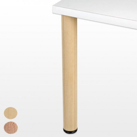 Pied de table bois hauteur 700 mm ø 80mm