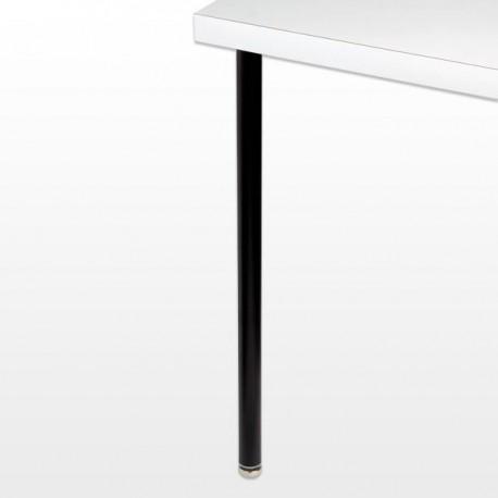 Pied de table rond chromé ou noir, différentes hauteurs, diamètre 35 mm