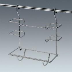 Porte-rouleaux triple pour barre de crédence CLASSIC chromée
