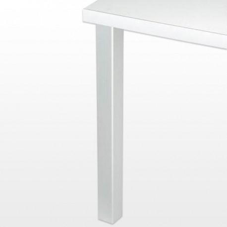 Pied de table carré JOEY 6 cm, hauteur 70,5 cm, alu, chromé, blanc ou inox