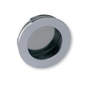 Poignée cuvette laiton ronde ESCALE argenté chromé