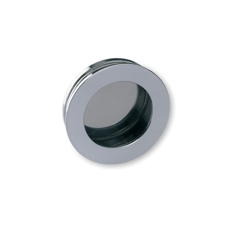 Poign e cuvette laiton ronde escale argent chrom - Poignee de porte ronde laiton ...