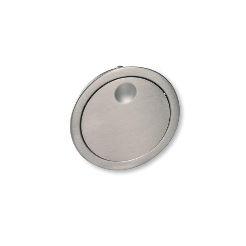Poign e look inox ronde encastrer for Panneaux muraux inox