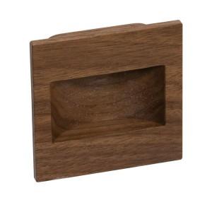 Poignée de meuble bois cuvette carré