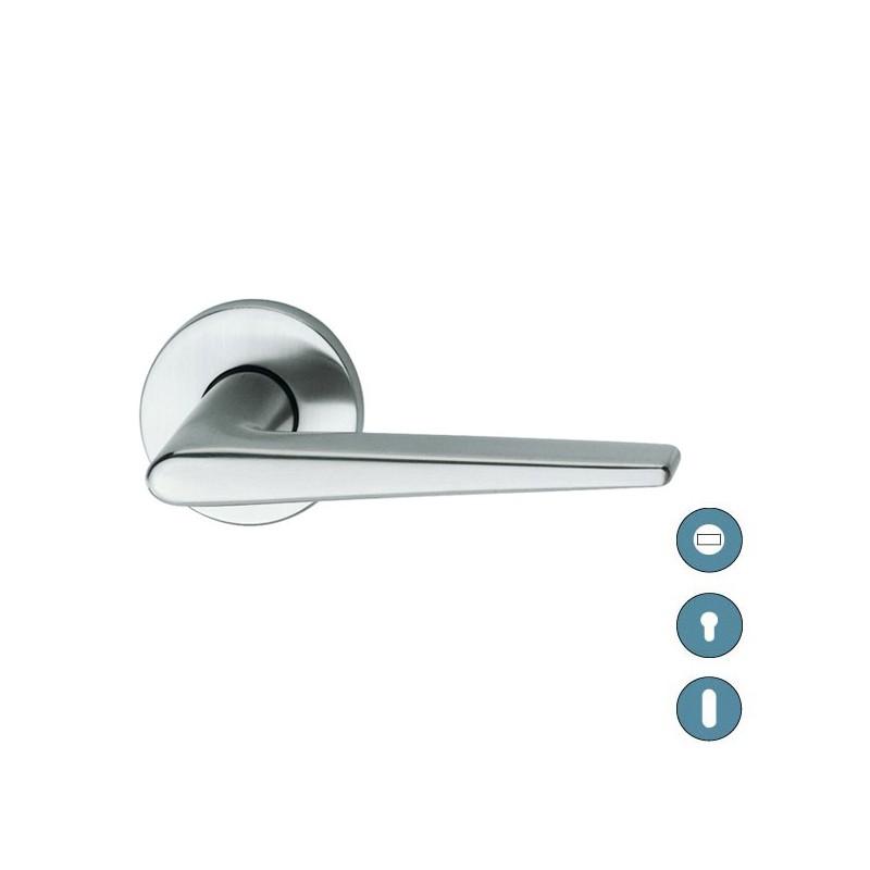 Poign e sur rosace aluminium mod le 1005 - Poignee de porte aluminium ...