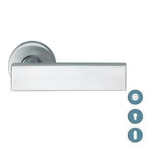 Poignée de porte sur rosace aluminium modèle 1003