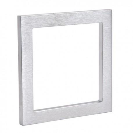 Set de 2 poignées de porte coulissante à coller carré.