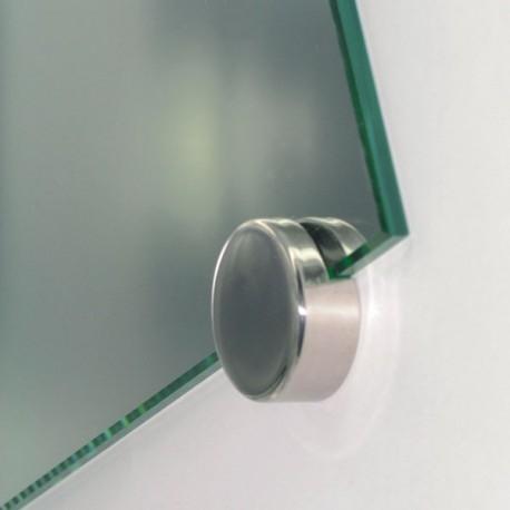 Support de fixation rond en inox pour miroir