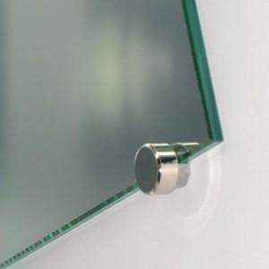 Solution pour fixation d 39 un miroir au mur inox blanc - Fixation miroir salle de bain ...