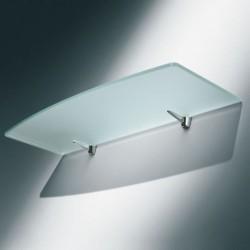 Support métal chromé pour tablette verre