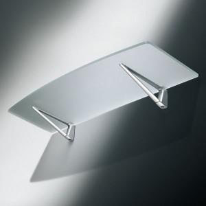 Support étagère en métal forme triangle gris ou chromé