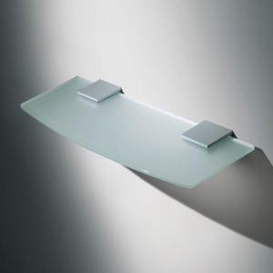 Support plat en métal pour étagère verre ou bois