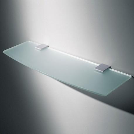 Support pour étagère carré chromé ou gris