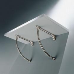 Support étagère en métal arrondi
