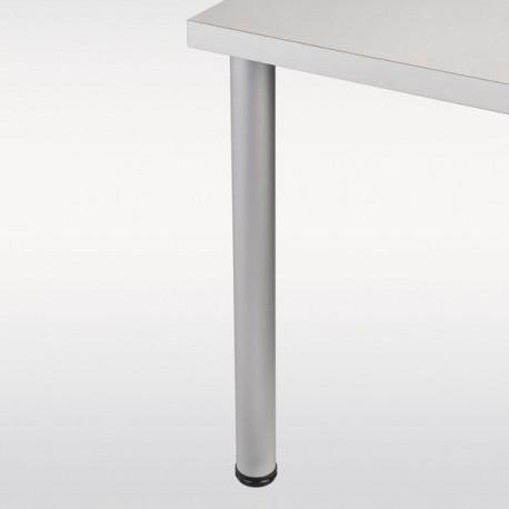 Pied de table aluminium rond hauteur 710 mm