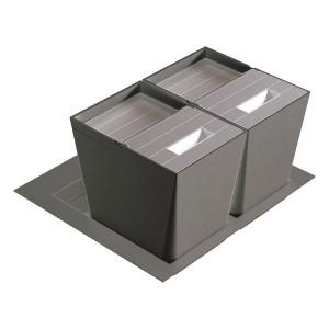 Poubelle cuisine pour tiroir 600 mm - 2 bacs 32 litres