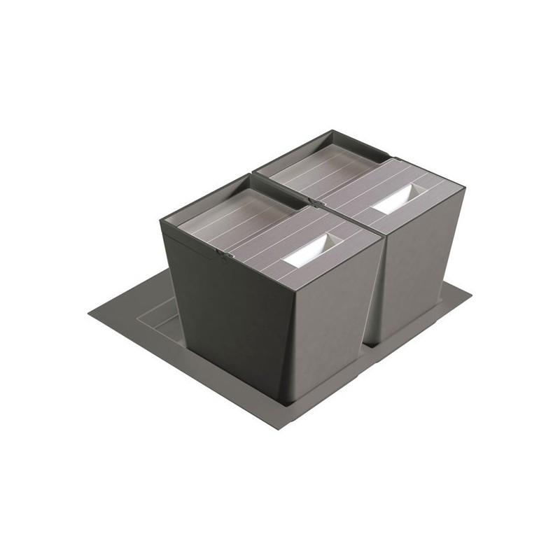 Poubelle de cuisine pour tiroir 2 bacs for Separateur pour tiroir de cuisine