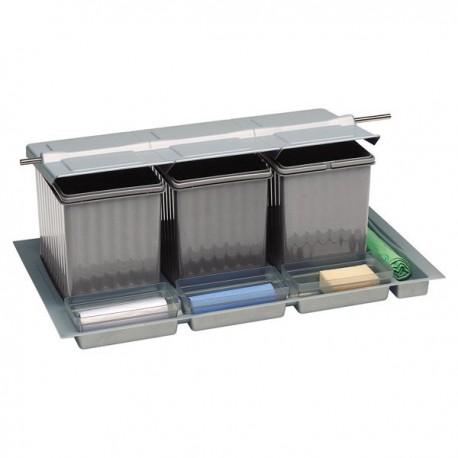 Poubelle pour tiroir 4 bacs 41 litres for Eclairage tiroir cuisine