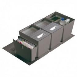 Poubelle cuisine pour tiroir de 900 mm - 2 bacs 32 litres