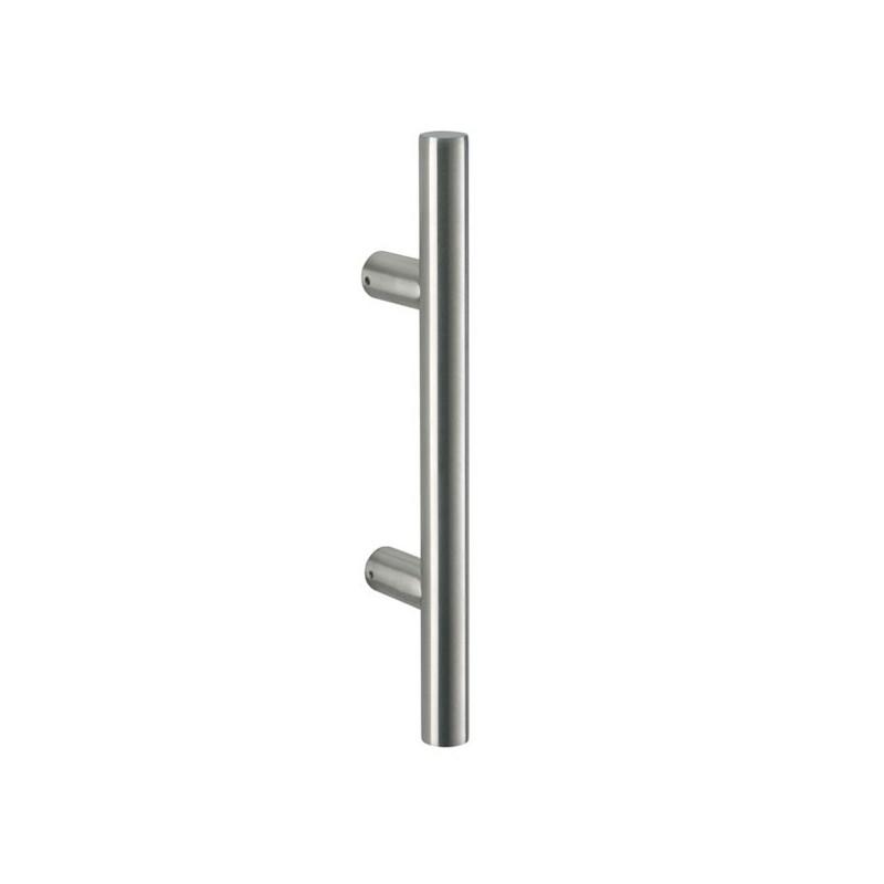 Poign e de porte d 39 entr e droite inox for Porte ustensiles de cuisine inox