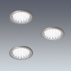 Kit 3 spots LED Ø58mm 230V