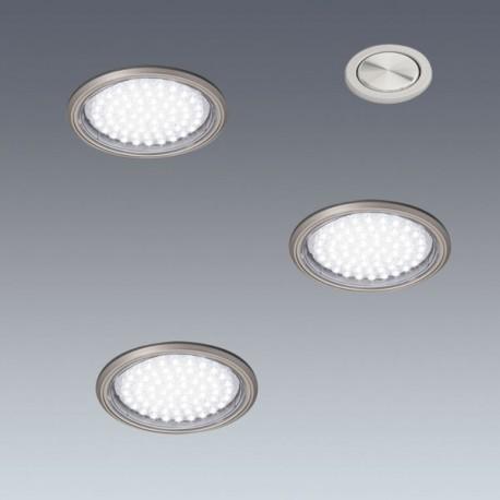 Kit 3 spots LED à encastrer Ø58mm + interrupteur