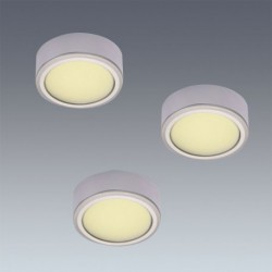 Kit 3 spots LED 58 mm en applique
