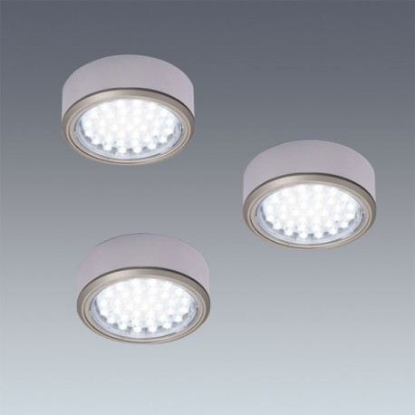 Kit 3 spots LED en applique diam 78 mm