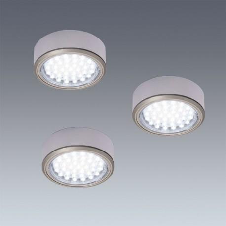 Kit 3 spots LED en applique diam 78 mm