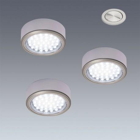 Kit complet 3 Spots LED en applique Ø58mm + interrupteur