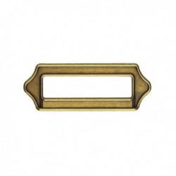 Porte étiquette métal rustique coloris bronze