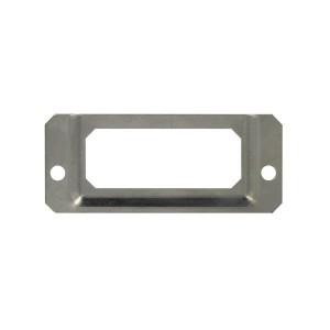 Porte étiquette acier look inox