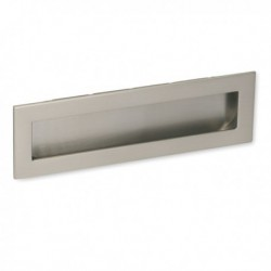 Poignée de meuble look inox cuvette rectangle