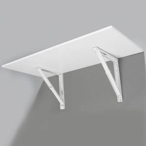 Support de table repliable blanc